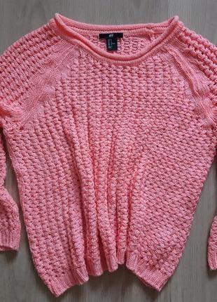 Сетчатый тёплый  свитер /вязаный джемпер