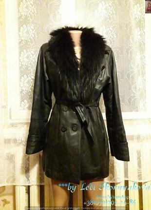 Кожанная куртка-зима с мехом натуральным, размер 46-48