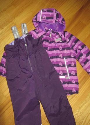 Зимний комплект lenne р. 110 куртка комбинезон полукомбинезон