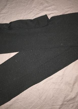 Тёплые колготки лосины чёрные с узором ( косичка ) новые