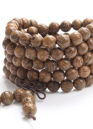 Многослойный браслет из мангрового дерева, коричневый