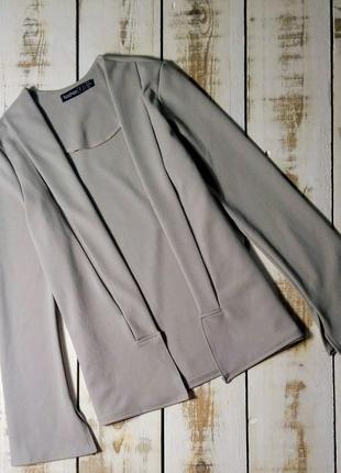 Серый жакет, пиджак boohoo