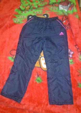 Утепленные штанишки для девочки