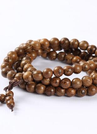 Многослойный браслет из мангрового дерева, коричневый3 фото