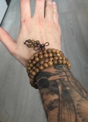 Многослойный браслет из мангрового дерева, коричневый4 фото