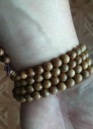 Многослойный браслет из мангрового дерева, коричневый5 фото