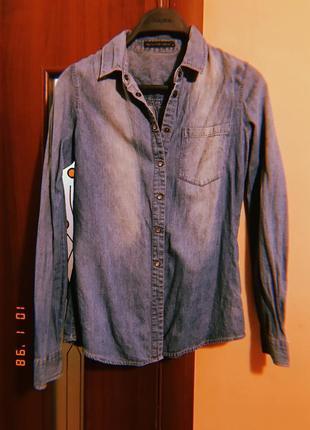 Афігенна джинсова рубашка від glo story!