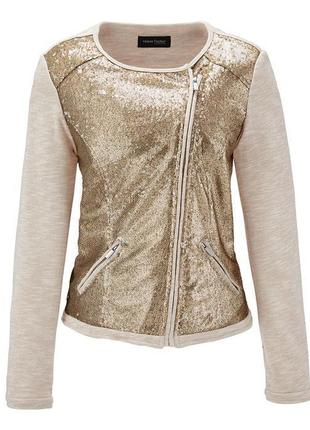Интересный пиджак-косуха с паетками тсм тchibo германия 42европ