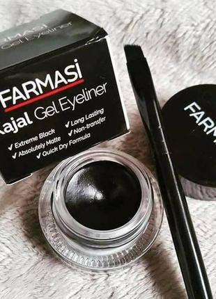 -40% гелевая подводка для глаз черная kajal gel eyeliner фармаси