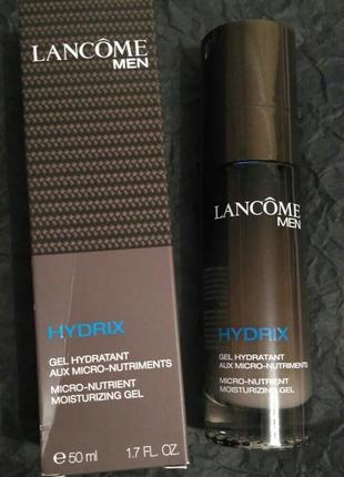 Гель для лица lancome men hydrix micro-nutrient moisturizing gel (тестер) 50мл