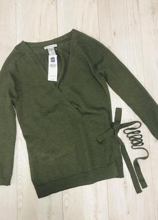 Кофта с запахом gap italiano merino wool