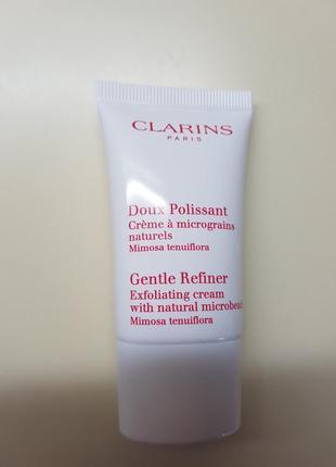 Мягкий разглаживающий крем пилинг для лица clarins, 15 мл.