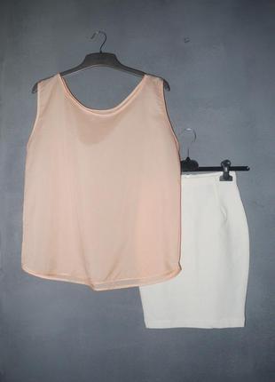 Блуза персиковая ( пудровая ) оверсайз майка шелковистая