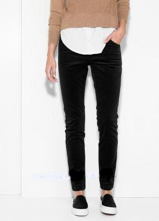 Вельветовые брюки mango черные