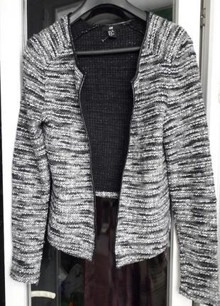 H&m вязаный кардиган пиджак накидка букле оверсайз