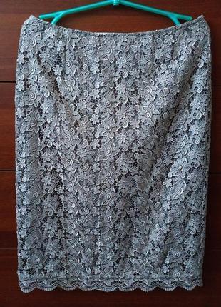 Шикарная,нарядная,ажурная юбка. на бирке- 12 р-р (46-48)