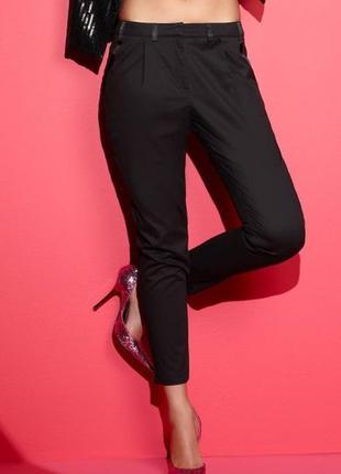 Стильные черные укороченные брюки разм с-м oasis