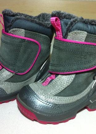 Зимние сапоги ,ботинки ecco с мембраной gore-tex р. 20-21 стелька 13,5 см оригинал !!!