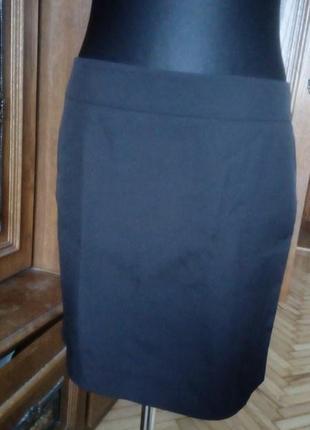 Черная офисная юбка класика ромер 38- 40