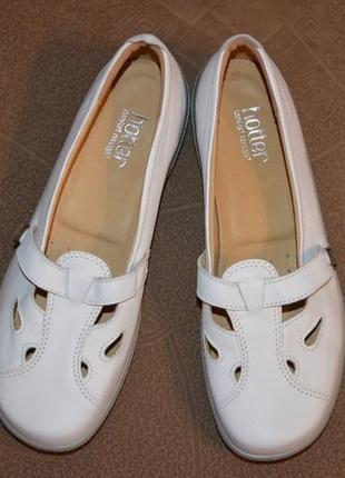 Туфли, балетки, мокасины hotter comfort concept, кожа, 41-42 размер5