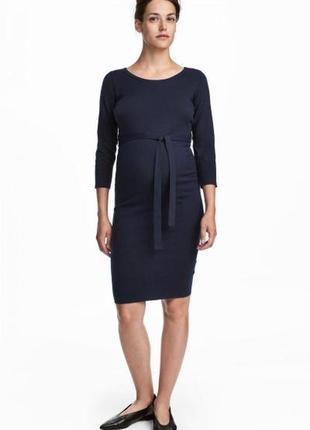 Платье мама тонкой вязки h&m 0557078001 синего цвета