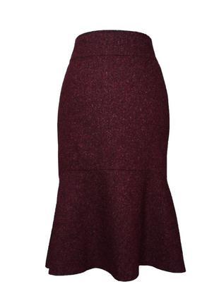 Шерстяная юбка годе, размер s-m
