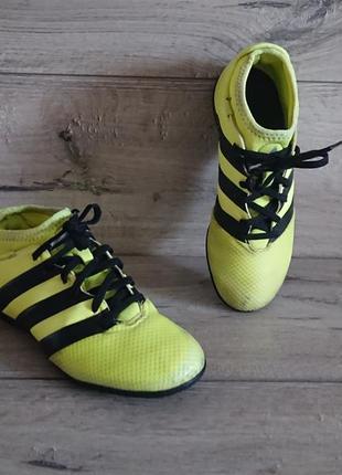 Футзалки сороконожки с носком адидас adidas ace 16.3 primemesh 35.5 р 22,5 см