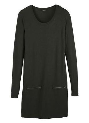 Трикотажное платье xs 32-34 esmara германия цвет хаки