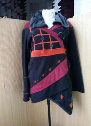 Непальский флисовый кардиган / куртка m/l