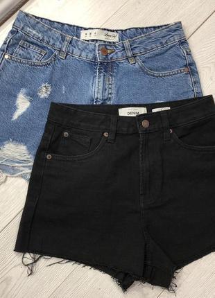 Джинсовые шорты mom new look