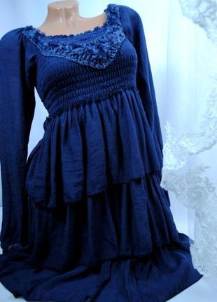 Платье синее 135 разные размеры