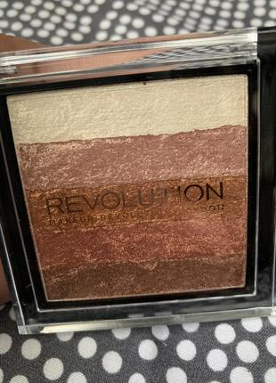 Шиммер revolution brick rose gold