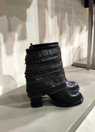 Брендовые кожаные ботинки sassofono  р. 39, 40