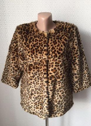 """Модная искусственная шуба полушубок """"под леопарда"""" от h&m размер евр 36, укр 42-44"""