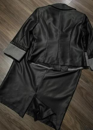 Безумно красивый статусный костюм жакет+юбка карандаш3