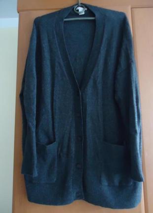 Стильный кашемировый свитер кардиган с карманами. 100% кашемир