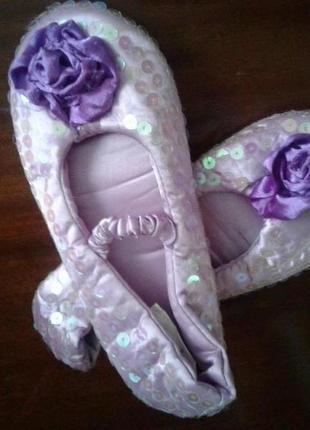 Disney мягкие туфли-балетки-чешки 32р(19см)1