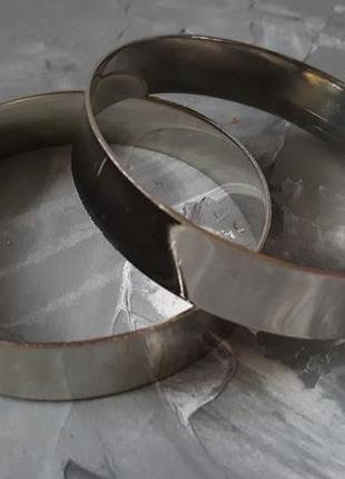 Браслет черный металл на широкую руку на предплечье, ногу2 фото