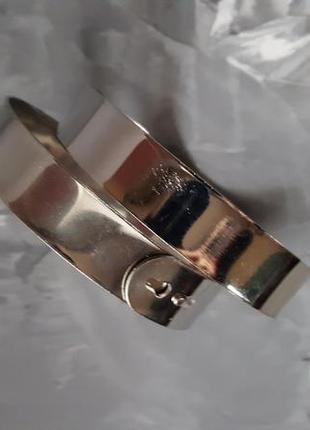 Браслет черный металл на широкую руку на предплечье, ногу3 фото