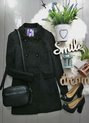 Демисезонное пальто в стиле милитари 50% шерсть №53