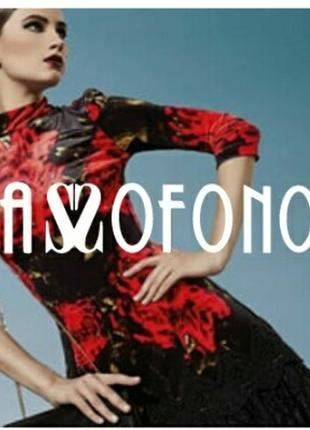 Новое бархатное платье sassofono  р. 42 (наш 46-48)