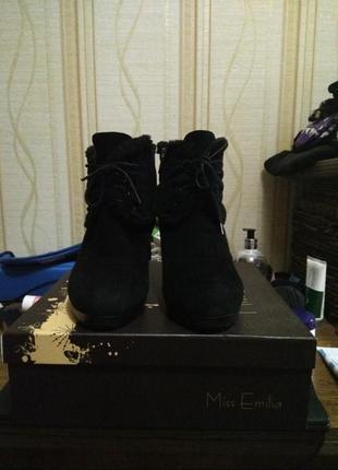 Замшевые зимнее ботиночки