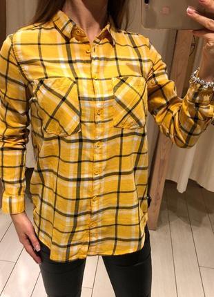 Желтая рубашка в клетку клетчатая рубашка house есть размеры