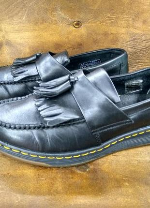 Кожаные туфли мокасины лофферы dr martens edison ( 39 размер )1 фото