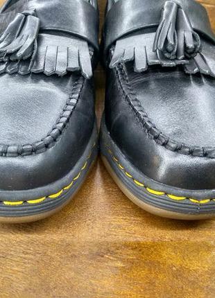 Кожаные туфли мокасины лофферы dr martens edison ( 39 размер )3 фото