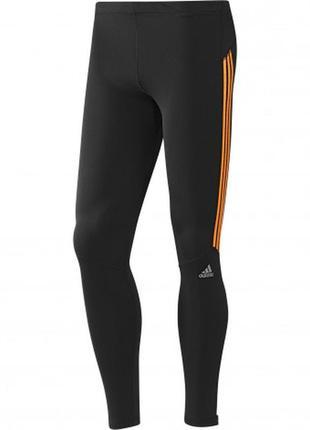 Фирменные спортивные лосины леггинсы тайтсы с контрастными вставками adidas оригинал.