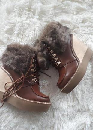 Крутые ботинки stradivarius 35,36,372 фото