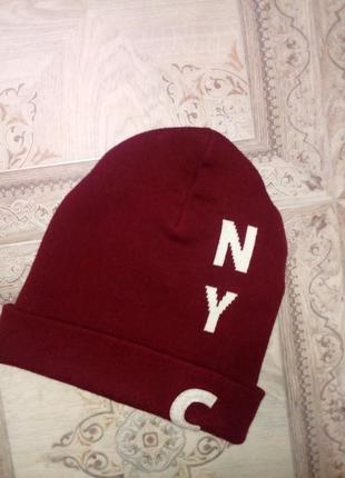 Спортивная теплая двойная шапка фирмы h&m