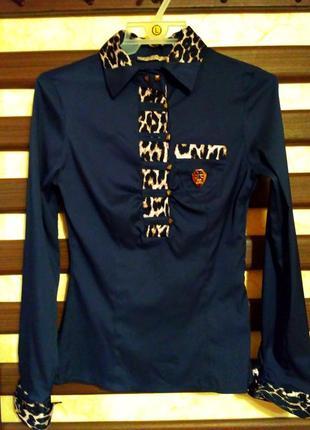 Блуза жіноча, розмір xs, s, колір темно-синій, в ідеальному стані.