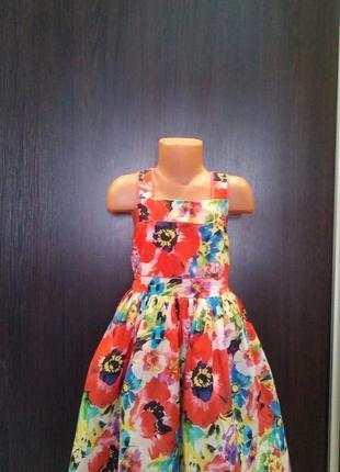 Летнее платье в цветах,6-7л,пышная юбка,tu